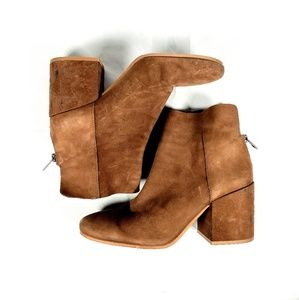 LUCKY BRAND Tan Leather Ankle Boots